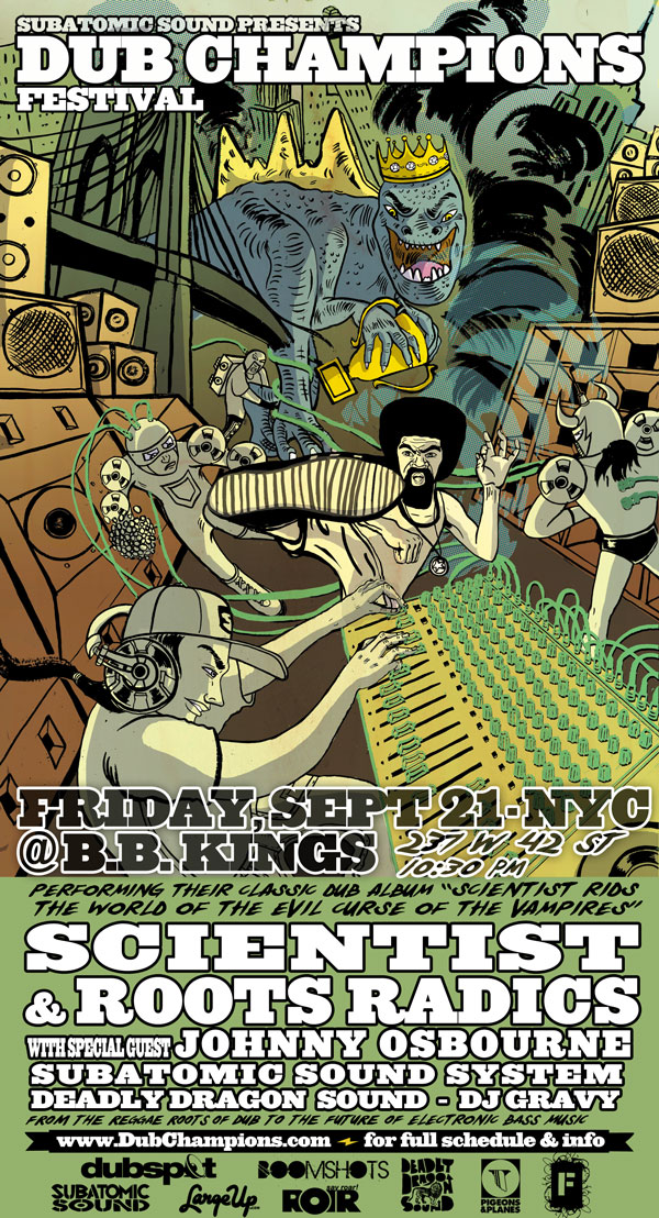Scientist, Roots Radics, & Johnny Osbourne Sept 21 New York City, Dub Champions Festival
