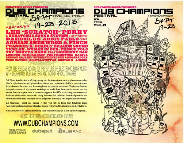 Dub Champions Festival 2013 USA Poster