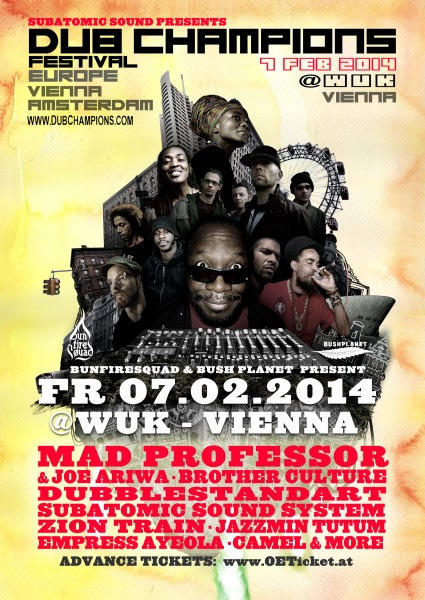 Dub Champions Festival 2014 Mad Professor Wuk Vienna