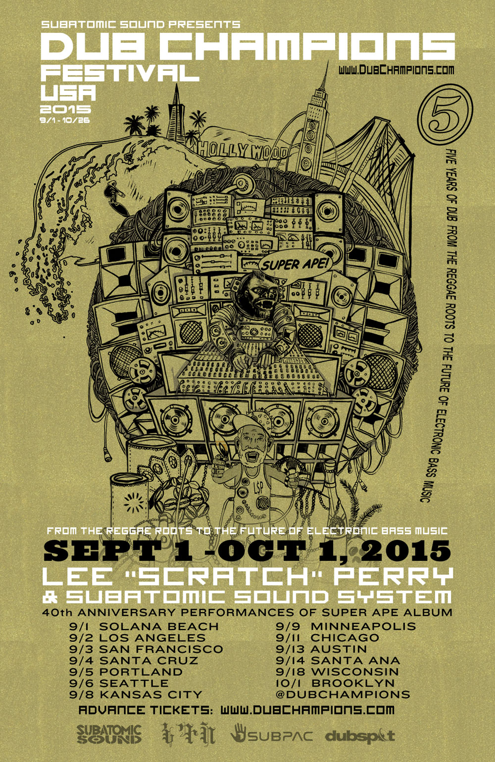 Super Ape Lee Scratch Perry Subatomic Sound System Dub Champions Festival