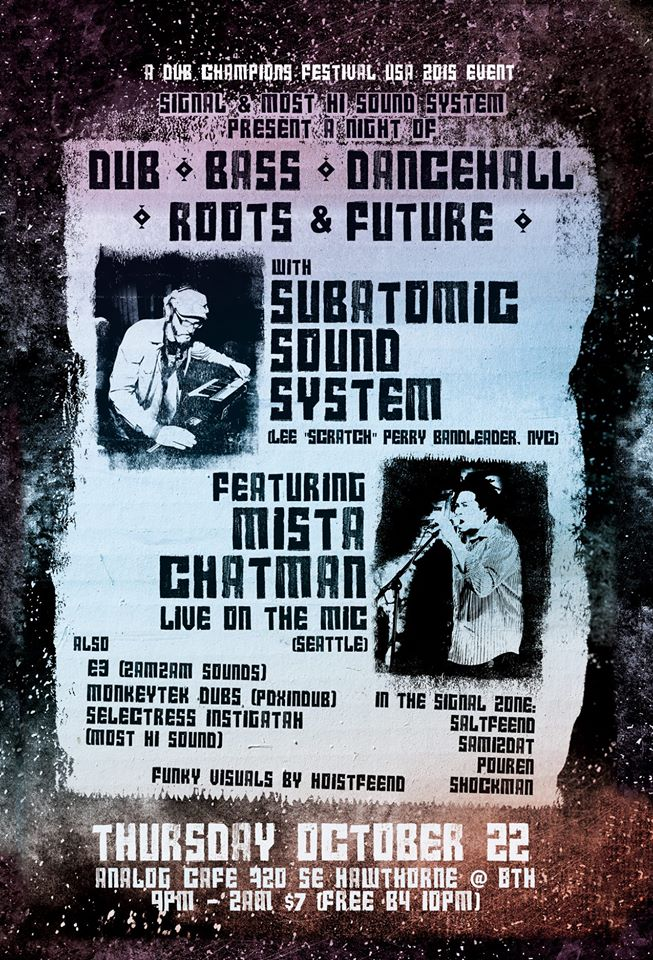 Portland Subatomic Sound System, Dub Champions Festival, Analog Cafe & Theater