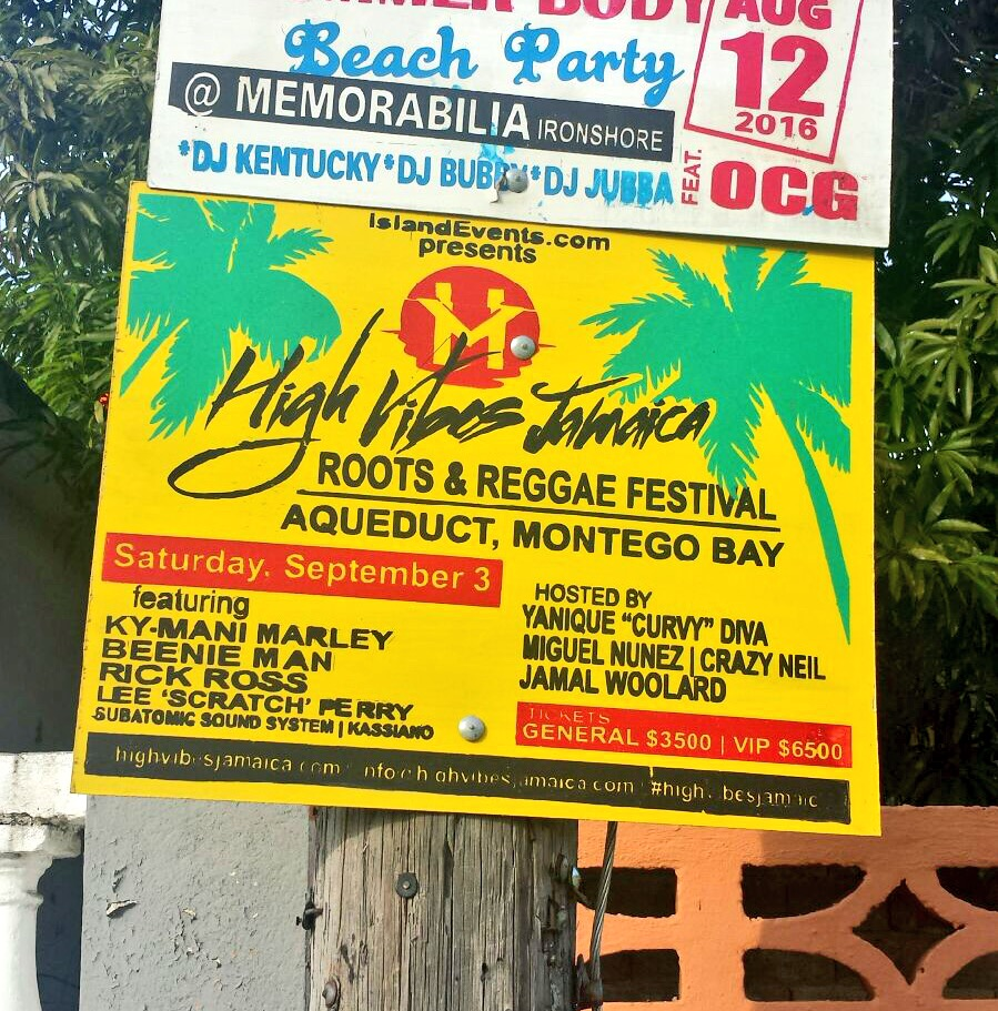 1st annual High Vibes Jamaica festival Sept 3 with Subatomic Sound System, Lee Perry, Rick Ross, Kymani Marley, Beenie Man and more