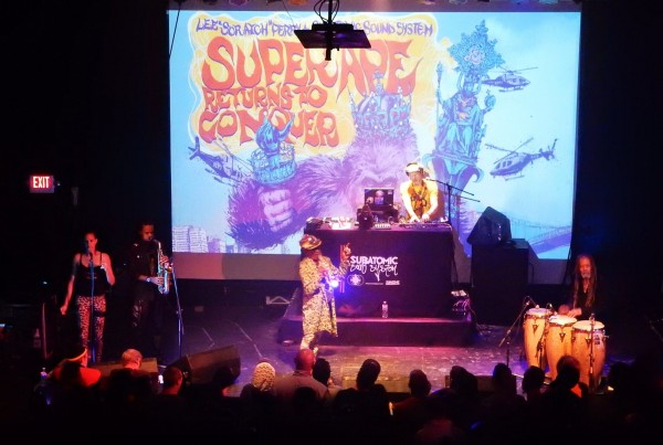 Lee Scratch Perry & Subatomic Sound System live Super Ape Returns to Conquer album tour